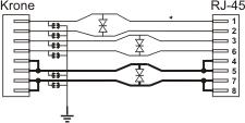 ethernet surge protector PTU-16R-eco-poe